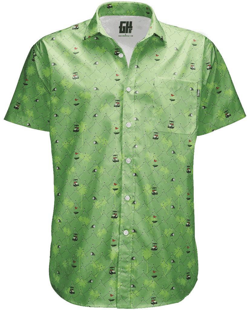Golfer's Green Button Down