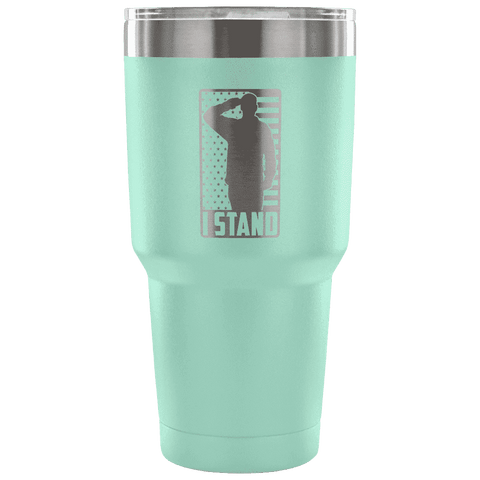 Image of I Stand Tumbler Tumblers teelaunch Teal