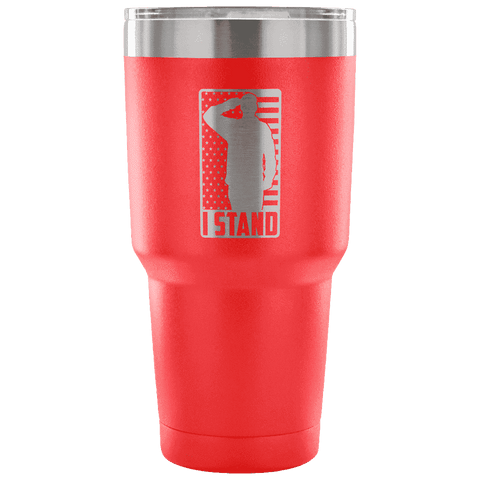 Image of I Stand Tumbler Tumblers teelaunch red