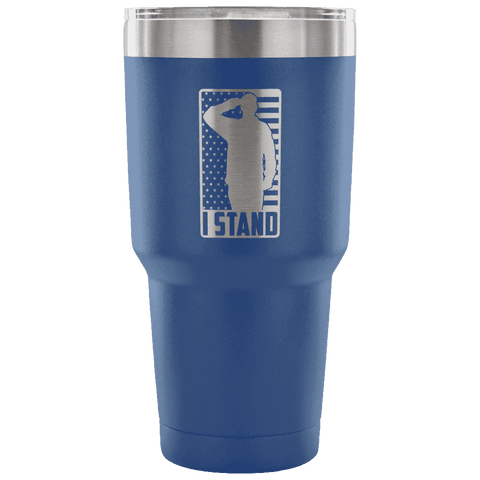 Image of I Stand Tumbler Tumblers teelaunch Blue