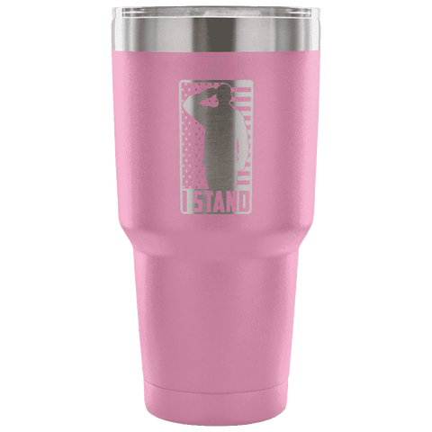 Image of I Stand Tumbler Tumblers teelaunch Light Purple