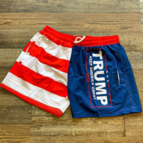 Trump KAG American Flag Swim Trunks