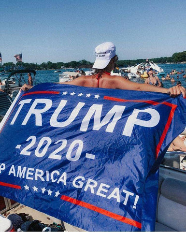 Trump 2020 Flag Greater Half