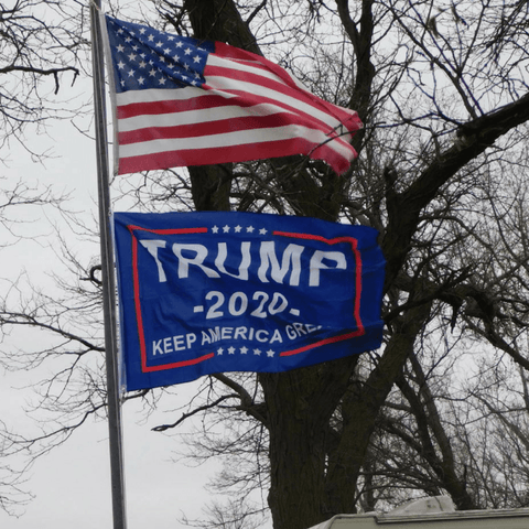 Image of Trump 2020 Flag Greater Half
