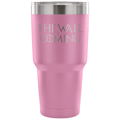 The Wall is Coming Tumbler Tumblers teelaunch Light Purple