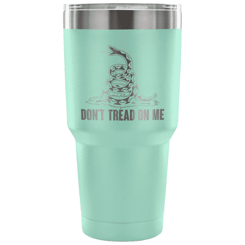 Don't Tread On Me Tumbler Tumblers teelaunch Teal
