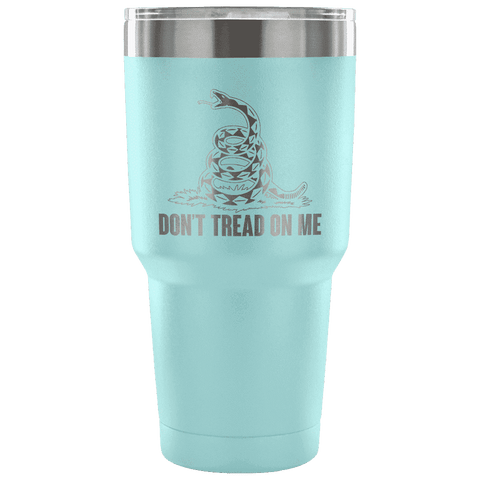 Don't Tread On Me Tumbler Tumblers teelaunch Light Blue