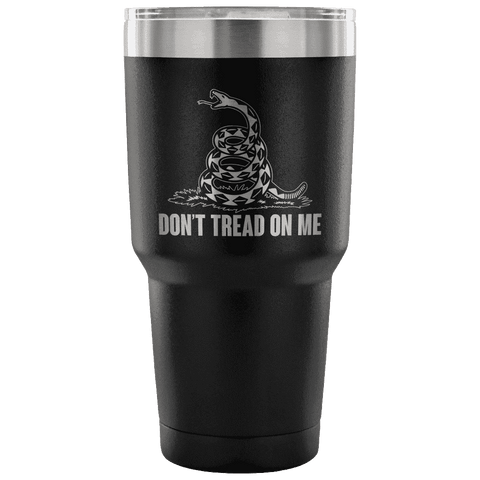 Don't Tread On Me Tumbler Tumblers teelaunch Black