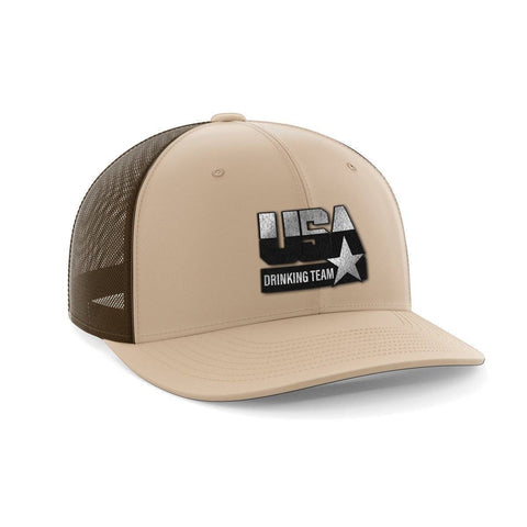 USA Drinking Team Black Patch Hat