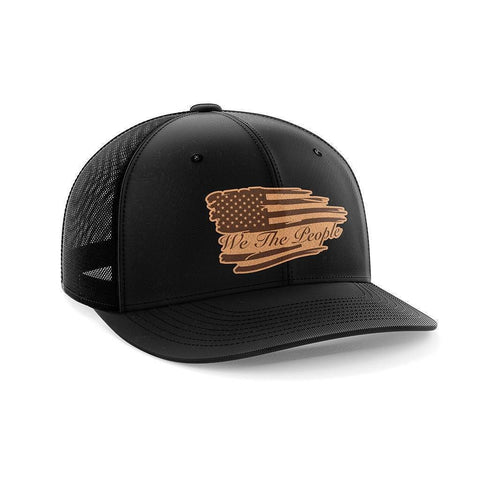 We The People Leather Patch Hat