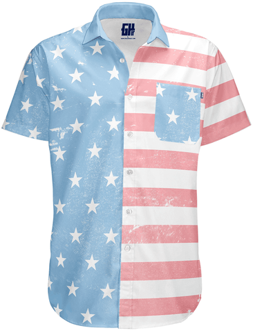 Image of Faded Old Glory Button Down - Greater Half