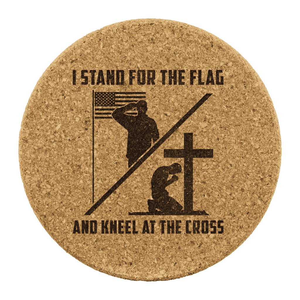 Stand for the Flag Kneel for the Cross Coasters