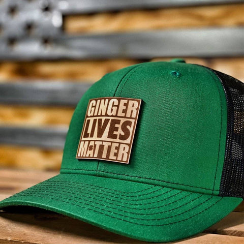 Ginger Lives Matter Leather Patch Hat
