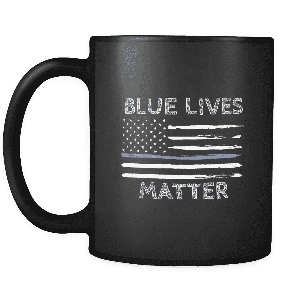 Blue Lives Matter Mug - Greater Half