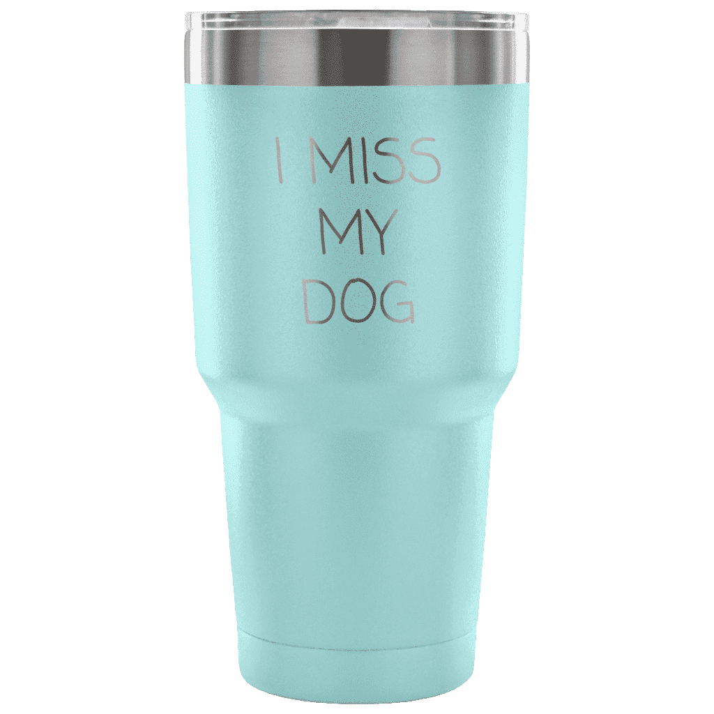 I Miss My Dog Tumbler Tumblers teelaunch Light Blue