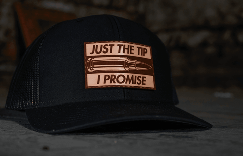 Just The Tip I Promise Leather Patch Hat