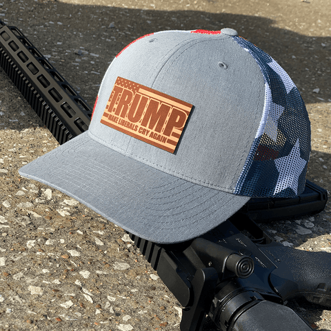 Make Liberals Cry Again Leather Patch Hat