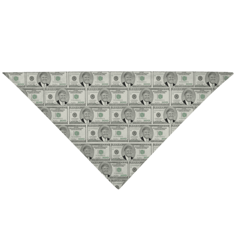 Image of Trump $100 Bill Pet Bandana