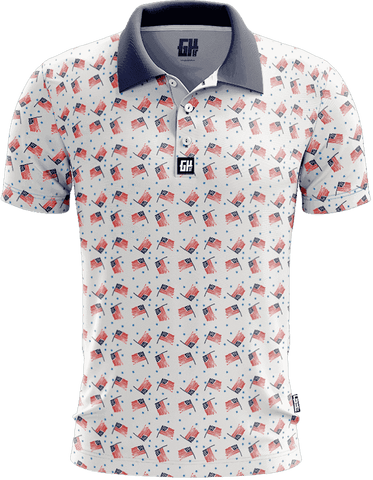 Image of America Vintage Golf Polo - Greater Half