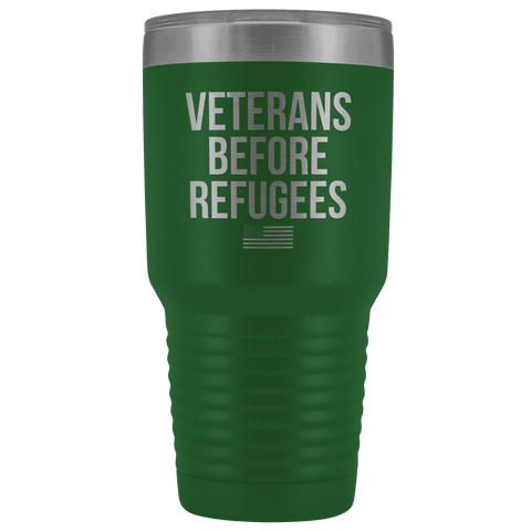 Image of Veterans Before Refugees Tumbler