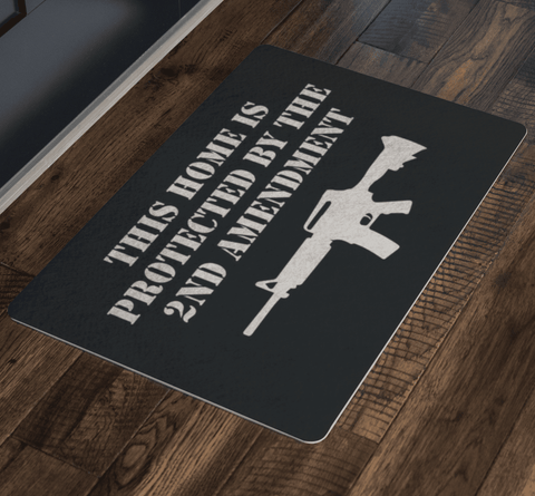 Image of This Home is Protected by the 2nd Amendment Doormat