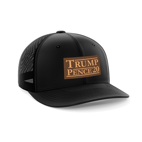Trump Pence 2020 Leather Patch Hat