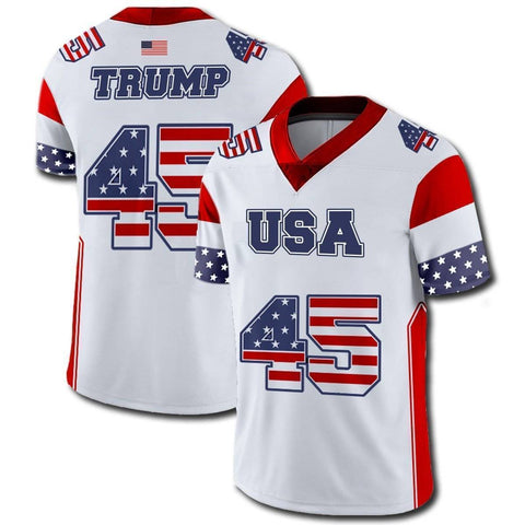 Image of Trump #45 Football Jersey-Greater Half