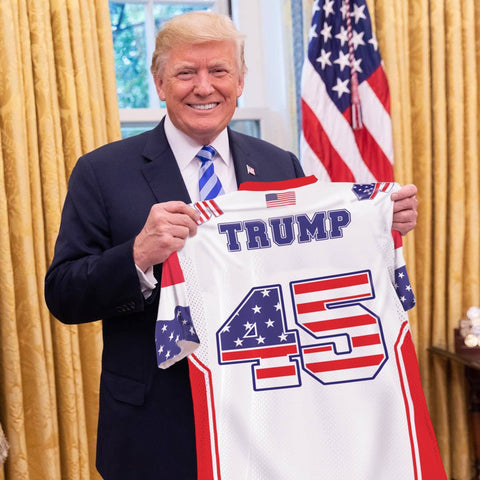 Image of Trump #45 Football Jersey Shirt Greater Half
