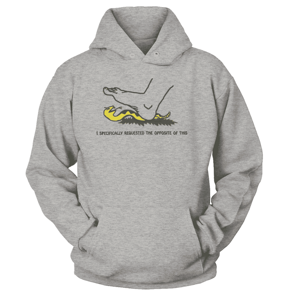 I Specifically Requested the Opposite of This Print Brains Premium Hoodies Heather Gray S
