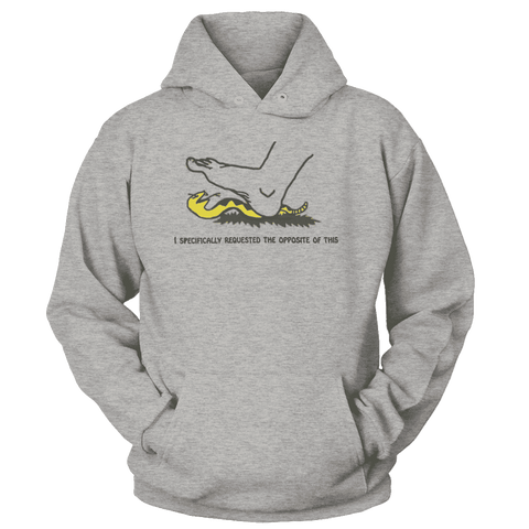 Image of I Specifically Requested the Opposite of This Print Brains Premium Hoodies Heather Gray S