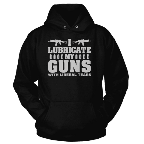 Image of I Lubricate My Guns With Liberal Tears Print Brains Premium Hoodies Black S