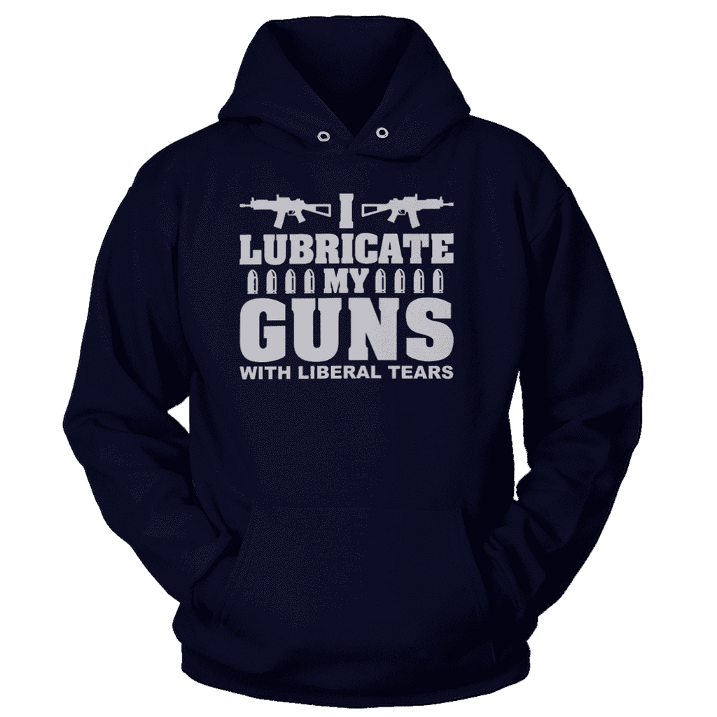 I Lubricate My Guns With Liberal Tears Print Brains Premium Hoodies Navy S