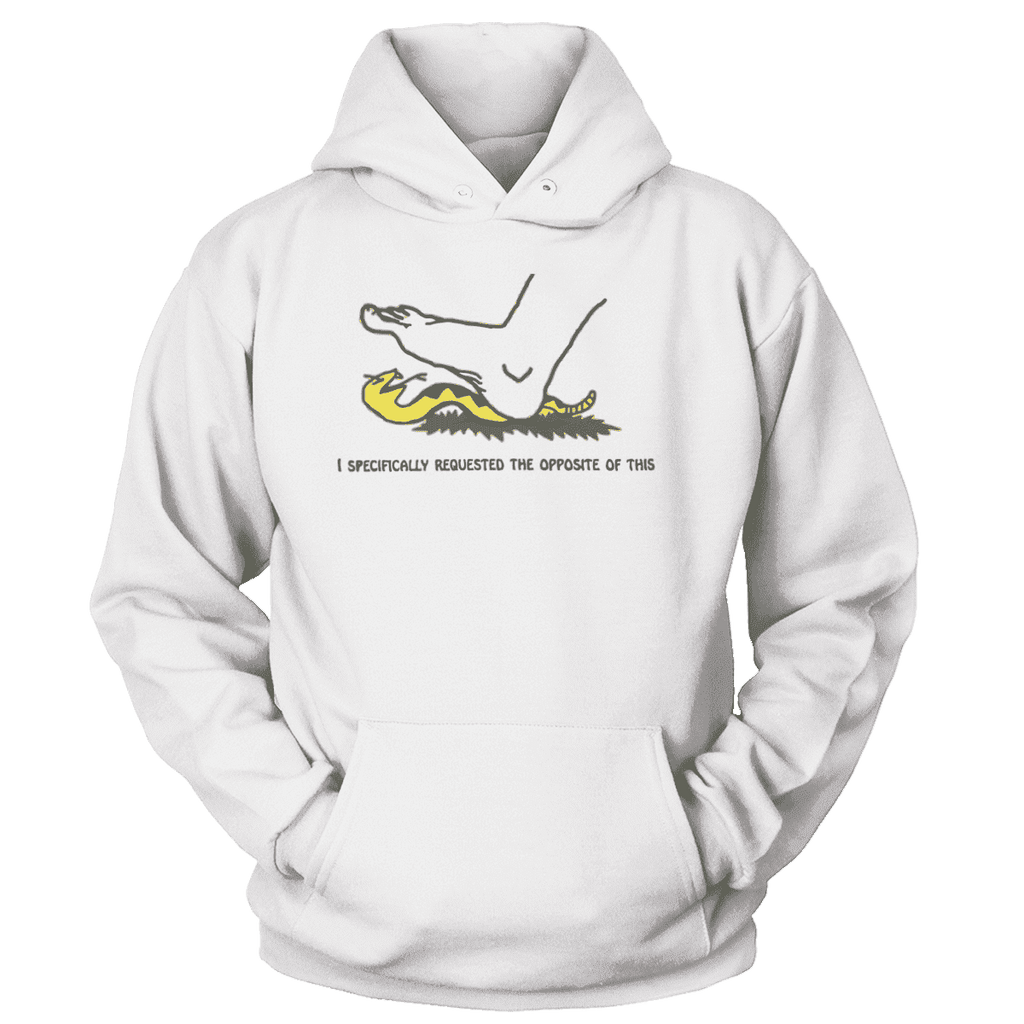 I Specifically Requested the Opposite of This Print Brains Premium Hoodies White S