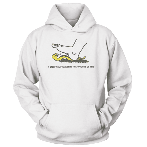 Image of I Specifically Requested the Opposite of This Print Brains Premium Hoodies White S