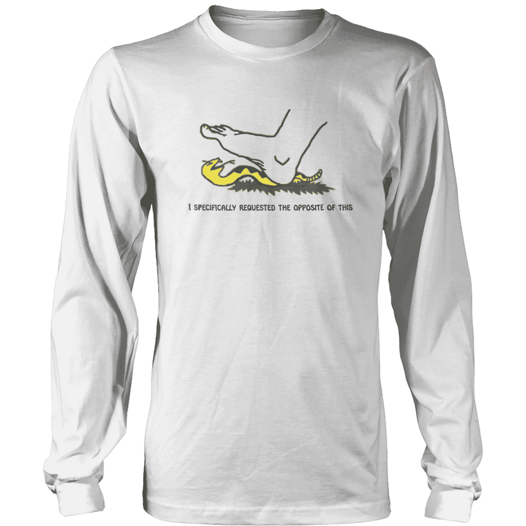 I Specifically Requested the Opposite of This Print Brains Long Sleeve Crew Neck White S