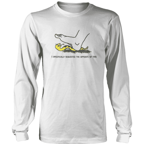 Image of I Specifically Requested the Opposite of This Print Brains Long Sleeve Crew Neck White S