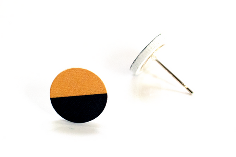 BLACK AND YELLOW EARRINGS