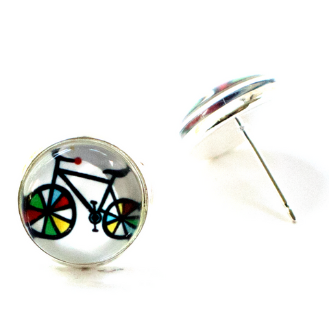 COLORFUL BICYCLE EARRINGS