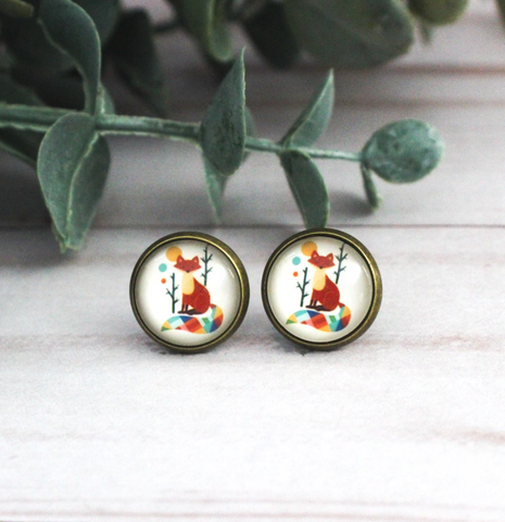 COLORFUL FOX EARRINGS