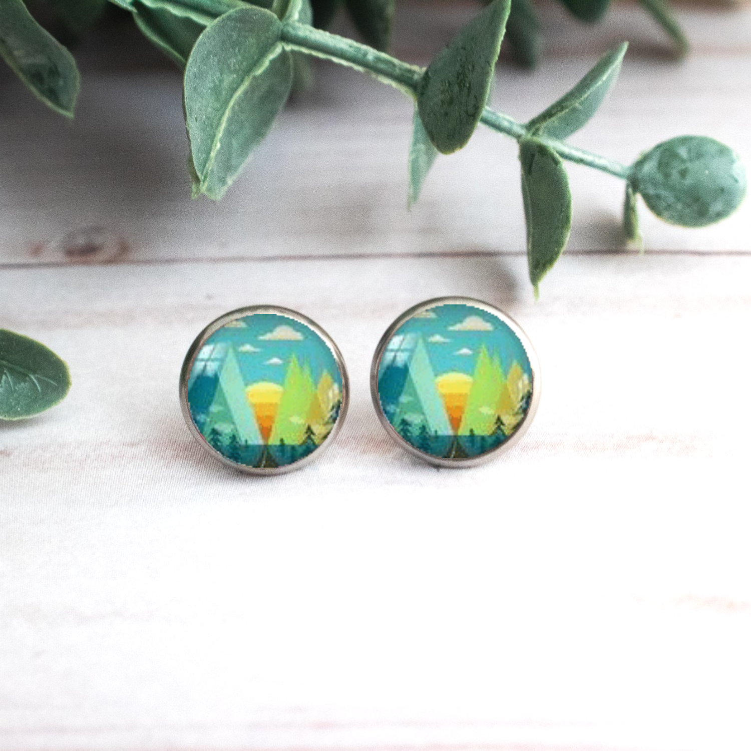 TURQUOISE & GREEN MOUNTAIN EARRINGS