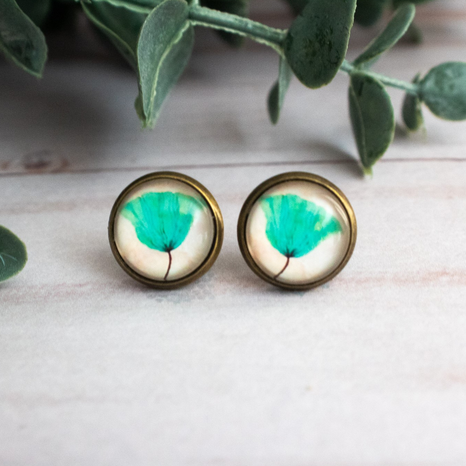 AQUA POPPY EARRINGS