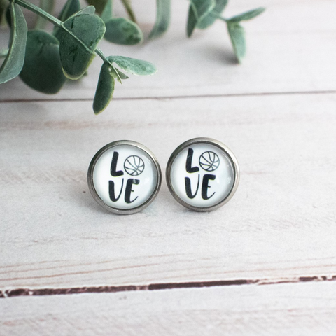 BASKETBALL LOVE EARRINGS