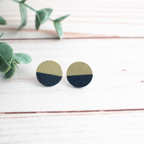 BLACK AND OLD GOLD EARRINGS