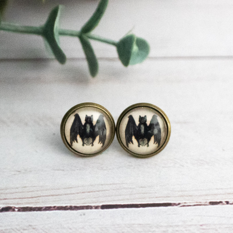 BLACK BATS EARRINGS