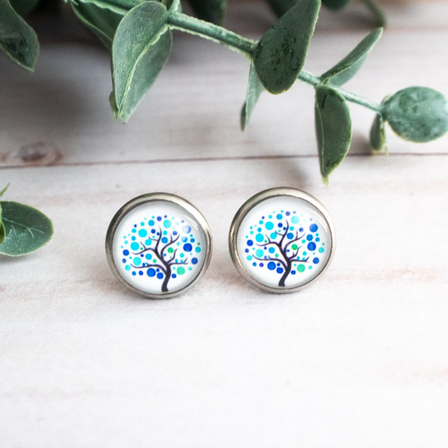 BLUE TREES EARRINGS