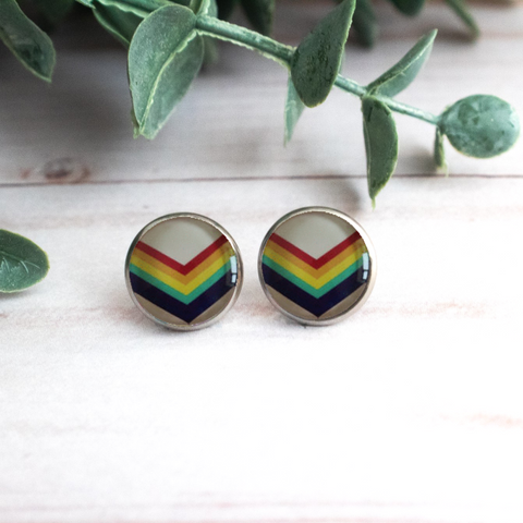 RAINBOW CHEVRON EARRINGS