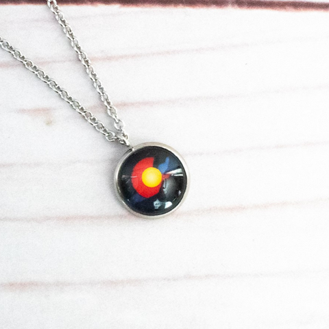 COLORADO DARK MOUNTAIN NECKLACE