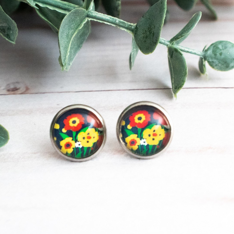 COLORFUL FLOWERS EARRINGS