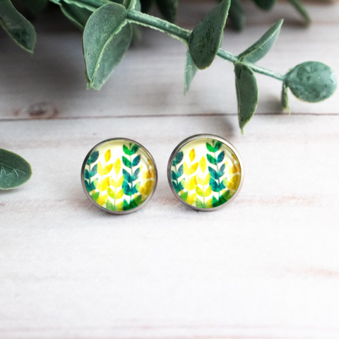 COLORFUL LEAVES EARRINGS