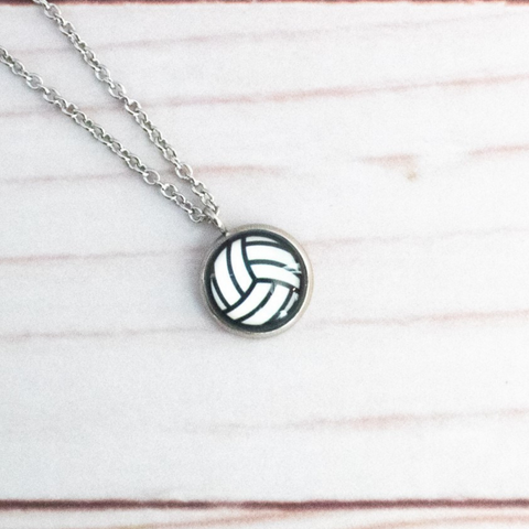 VOLLEYBALL NECKLACE- DARK